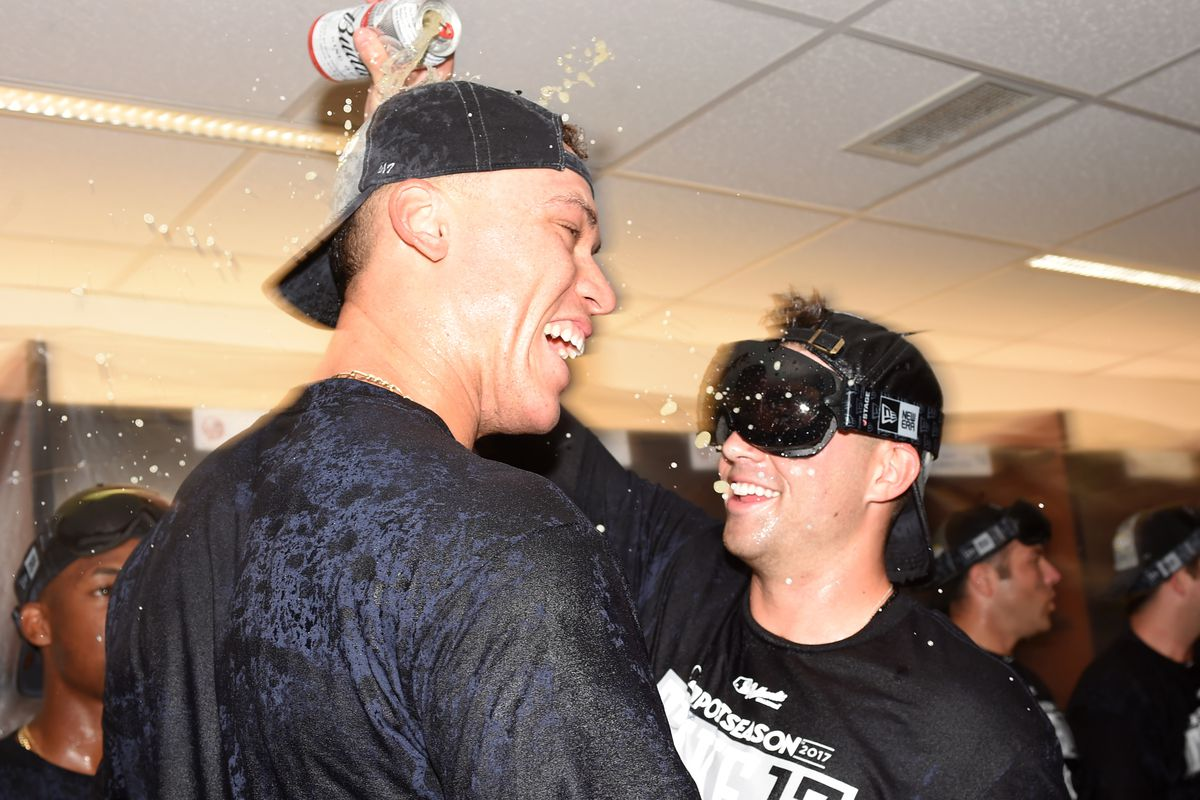 Image result for 2017 Yankees champagne celebrations