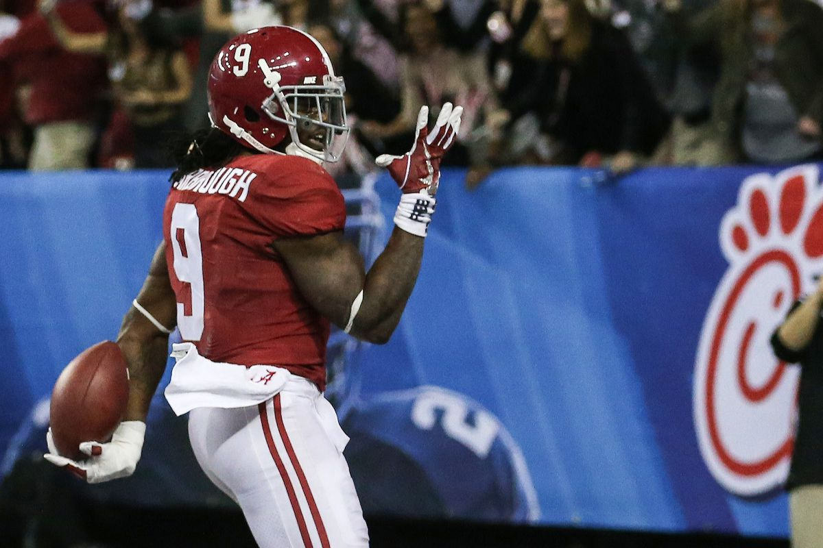 new styles 9861e 0bcb5 Bo Scarbrough had a Derrick Henry moment, and Bama's ...