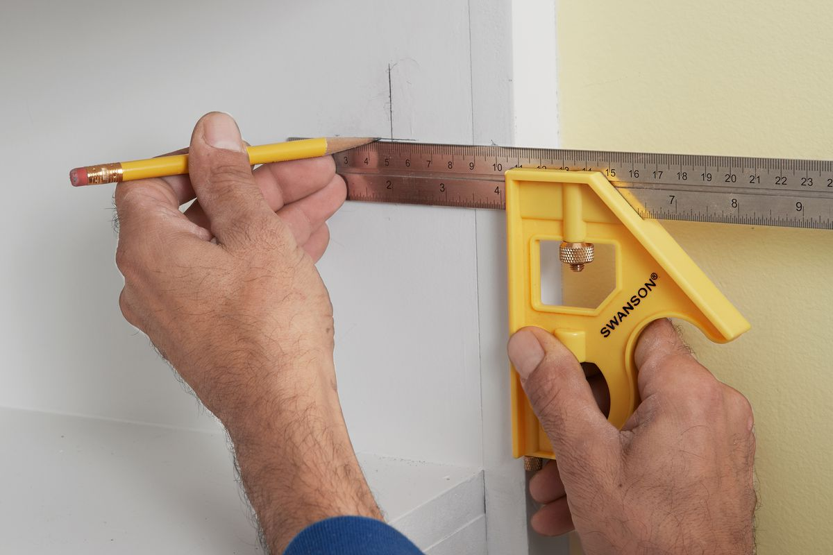 Marking Cabinet With Combination Square For Concealed Cabinet Hinges