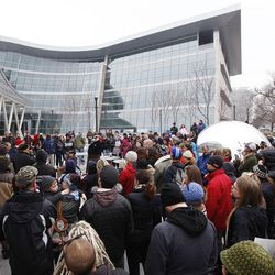 Utah Against Police Brutality held a protest outside the Salt Lake City Public Safety Building in Salt Lake City Saturday, Jan. 10, 2015.