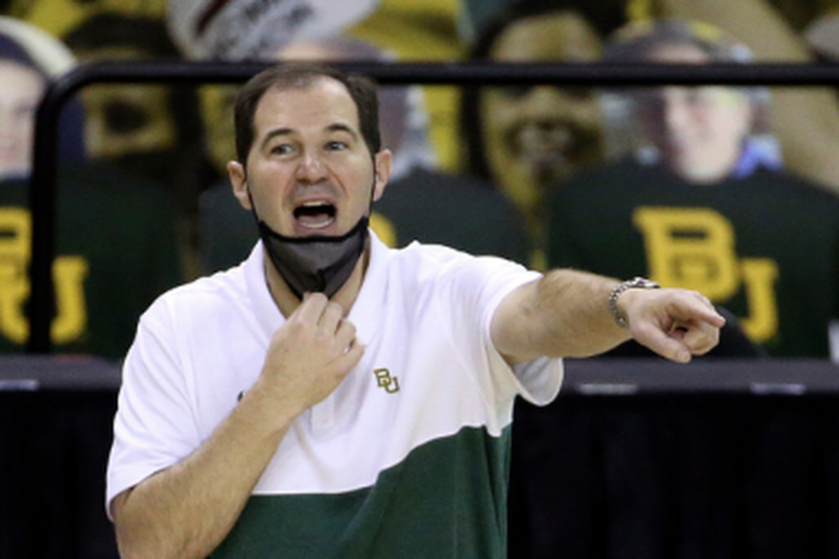 Coach Scott Drew guided Baylor to the No. 1 seed in the South Region.
