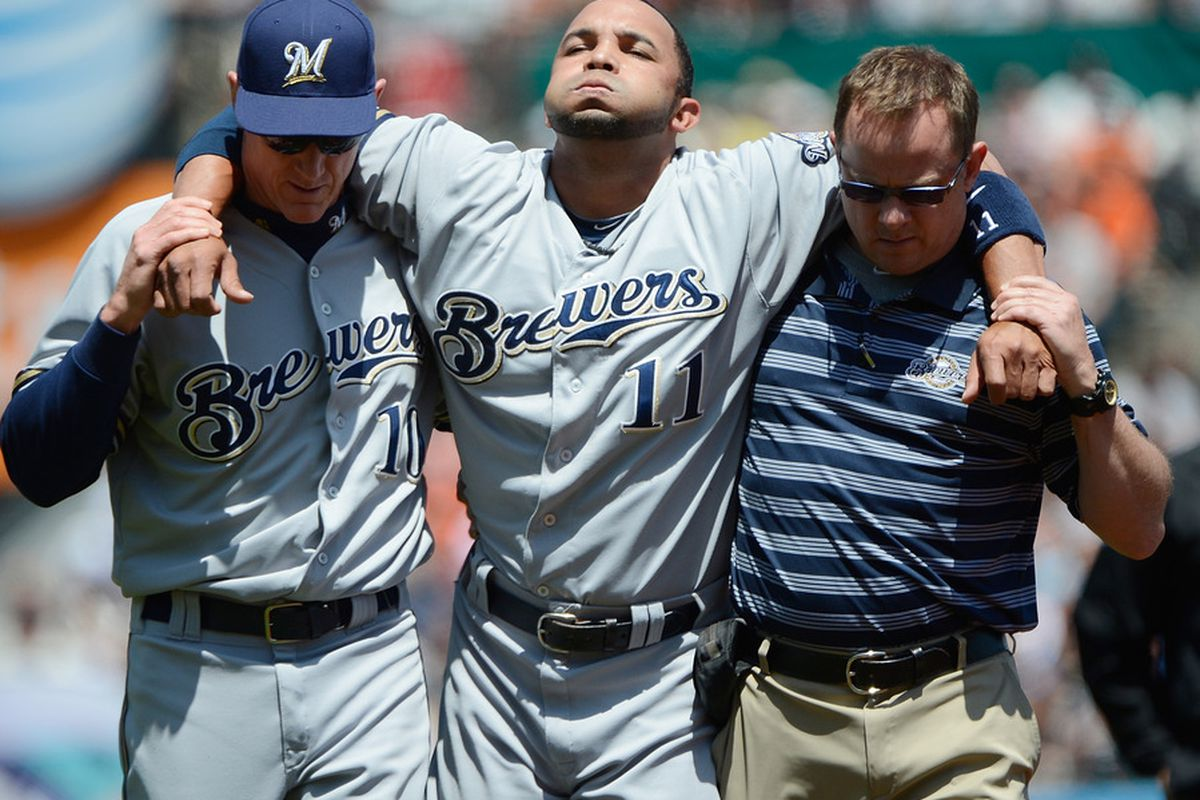 He was good when he was in the game. Unfortunately for Brewer fans that wasn't very long in today's game.