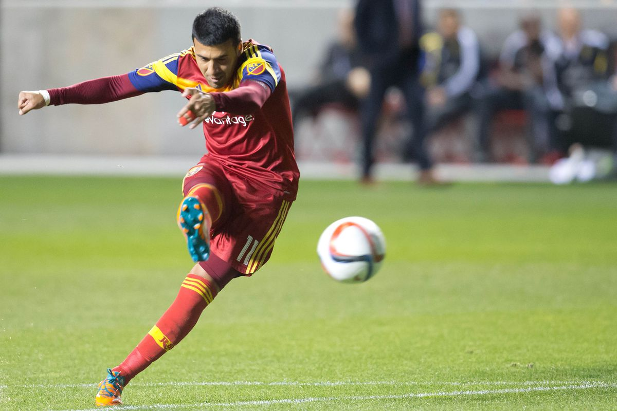 Javier Morales strokes a free-kick into the back of the net against Philadelphia - There, be Dragons