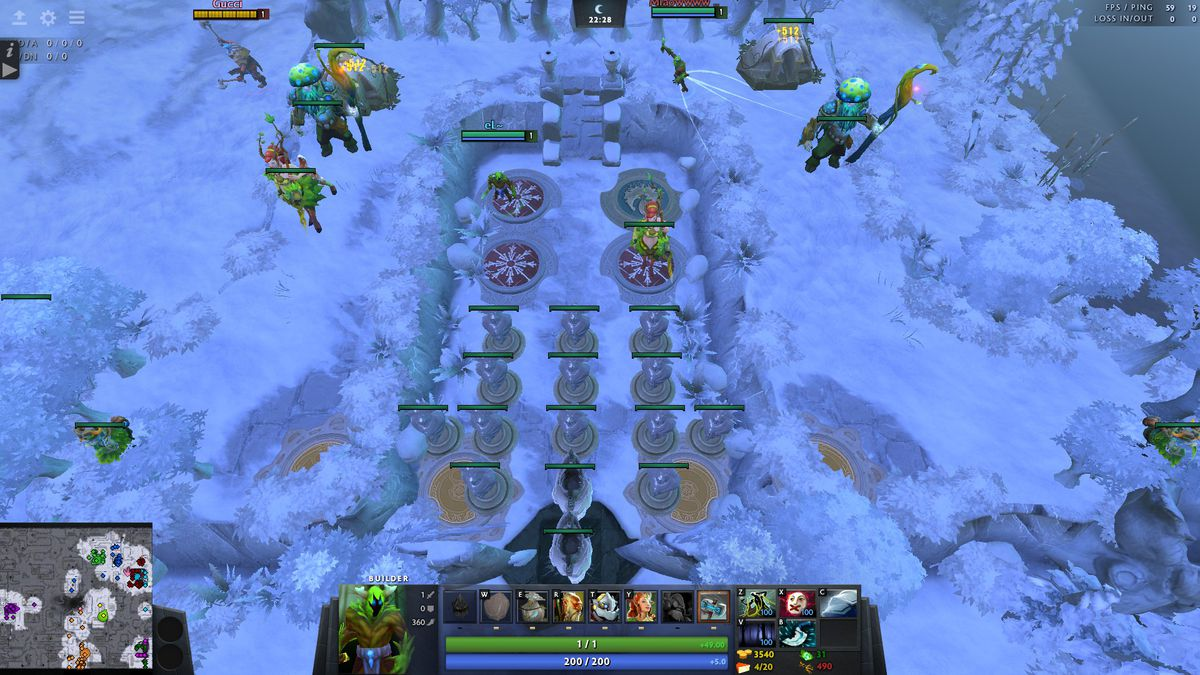 Some Elf allies' formidable base. Troll & Elves 2 by sSam | Dota 2