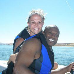 Alex and Julie Boye in Lake Powell.