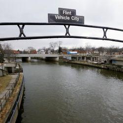 The Flint River in Flint, Mich.