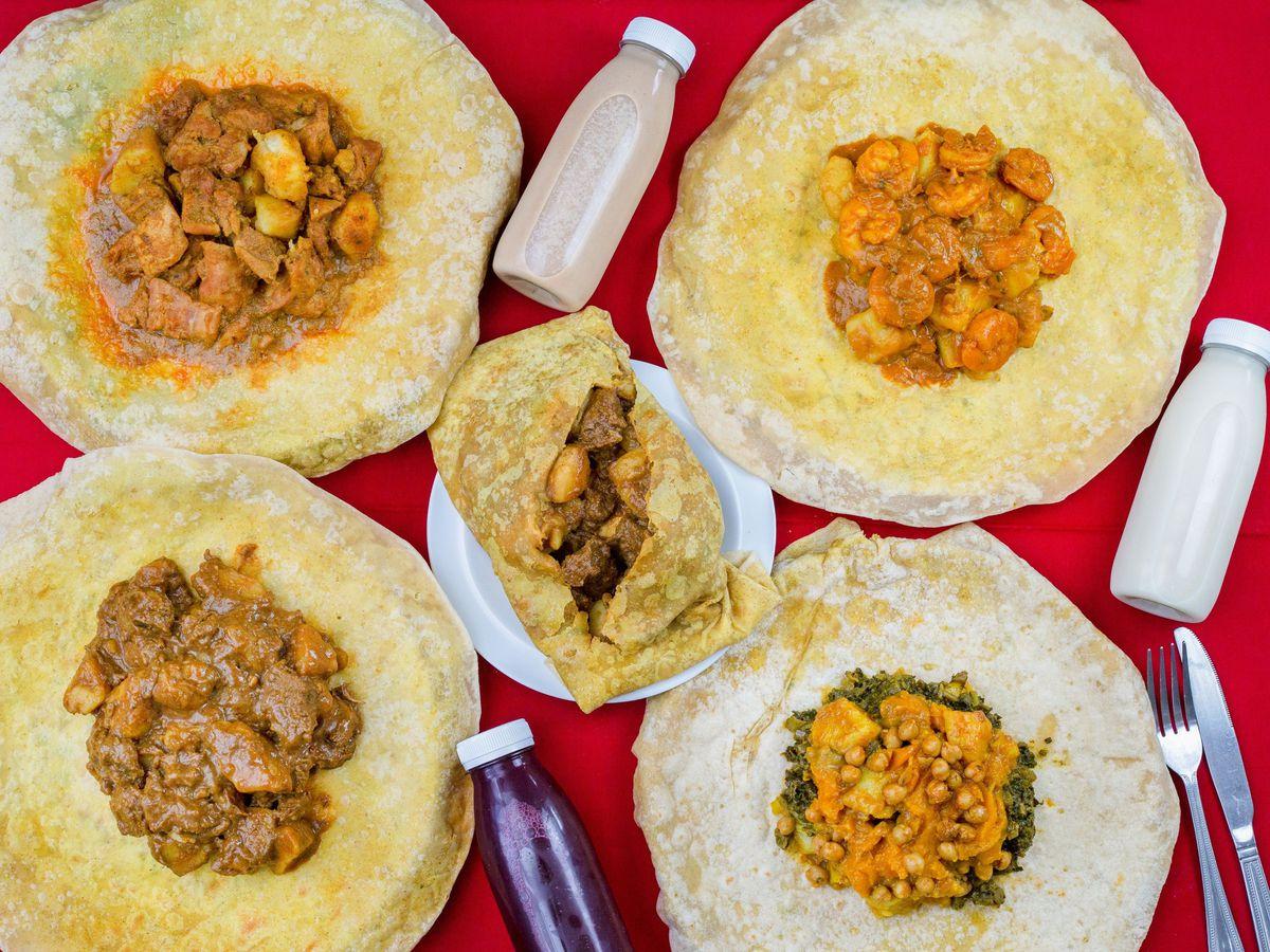 Best Trinidadian roti and Caribbean food in London: Hilltop Roti in Ealing