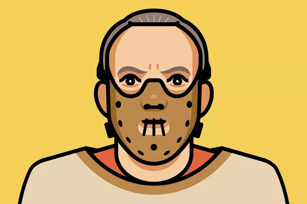 An illustration of Hannibal Lecter