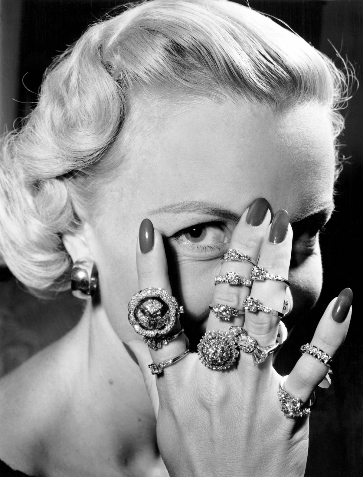 handful of engagement rings