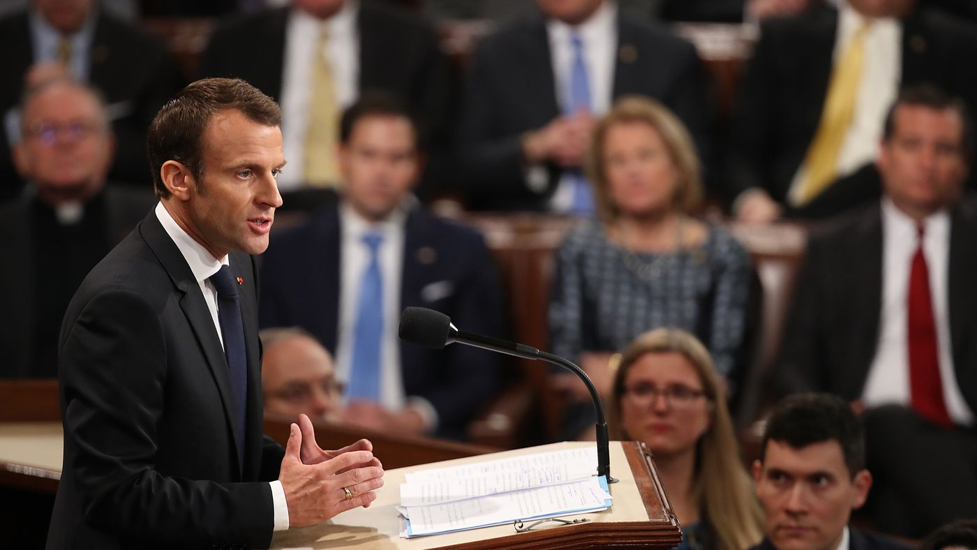 Macron slammed Trump in his speech to Congress, without using his name