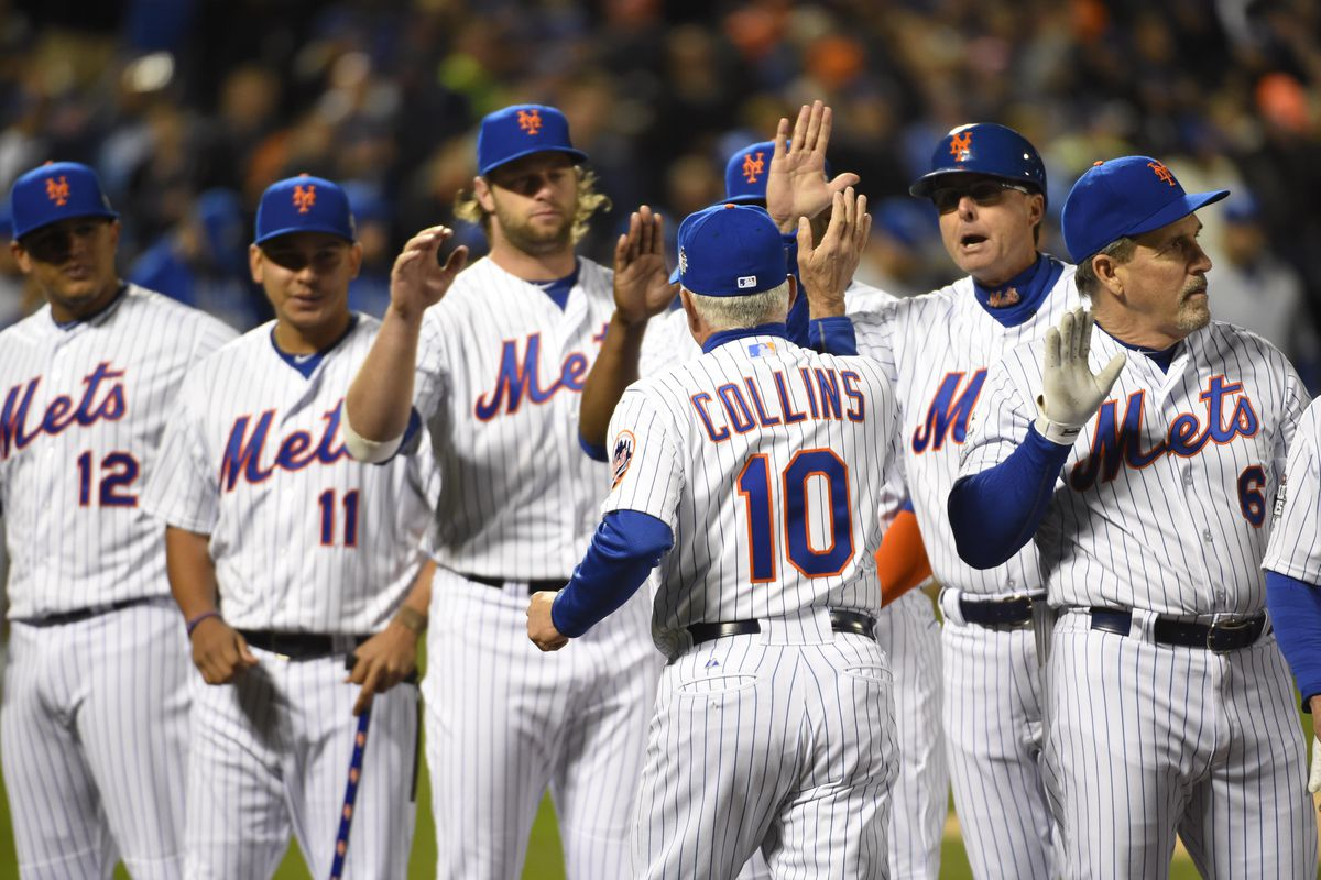 Terry Collins and the Mets at Game 3 of the 2015 World Series