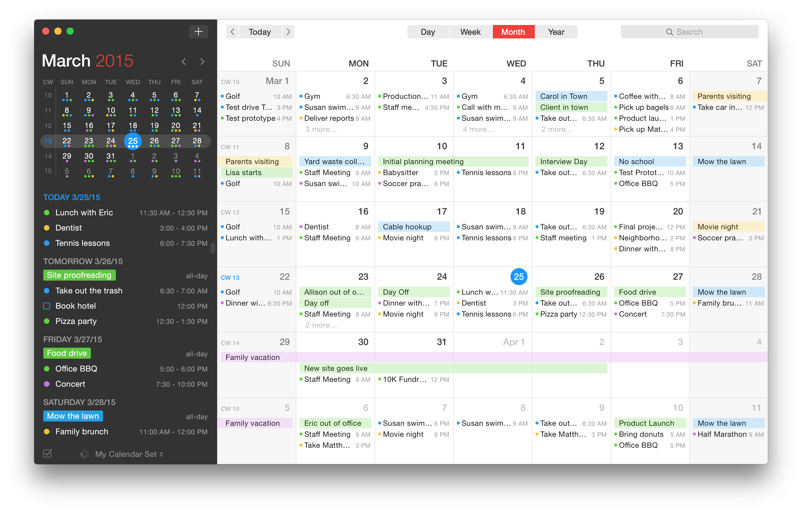 Weekly Calendar App : Fantastical is the calendar app your mac has been