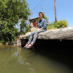 """Brian Tonetti, of the Seven Canyons Trust talks about a proposal to """"daylight"""" the confluence of three valley creeks — Emigration, Red Butte and Parleys — on Wednesday, May 31, 2017. The creeks empty into the Jordan River at about 1300 South and 900 West."""