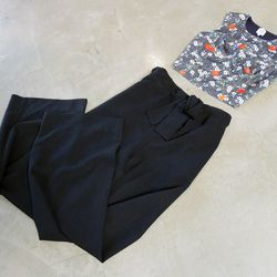 Opening Ceremony top, $225; Opening Ceremony pants, $280