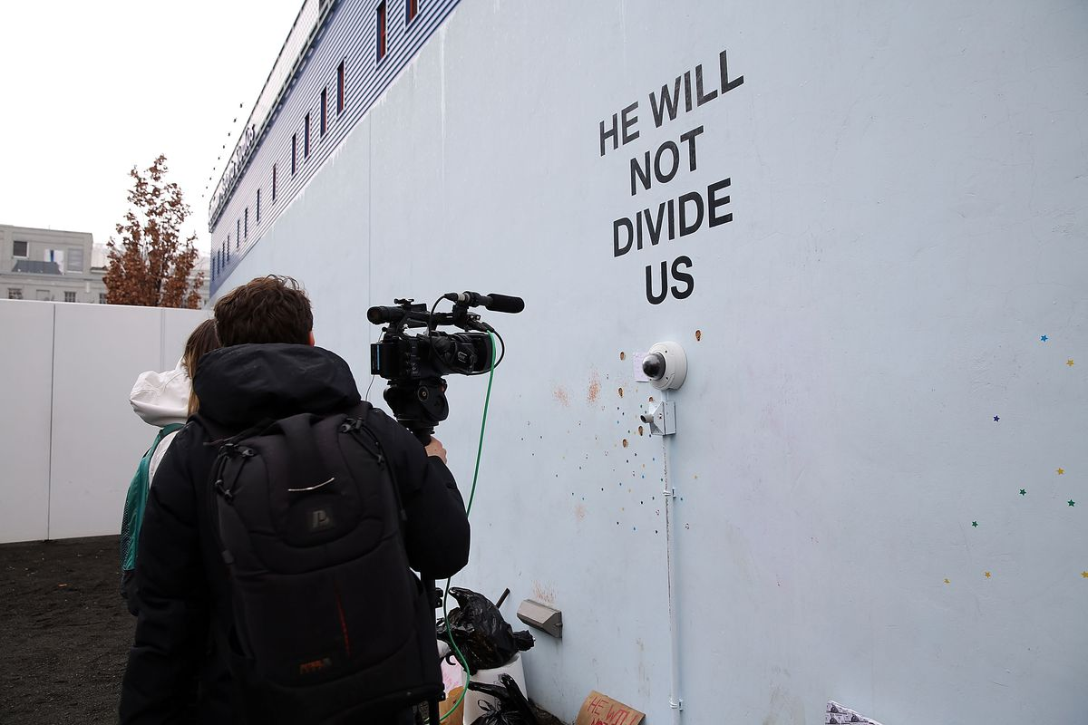 He Will Not Divide Us Art Project Moves Overseas The Verge - He will not divide us google maps
