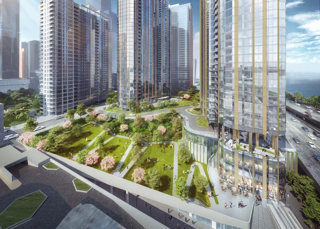 Plans for Lakeshore East include a new park.
