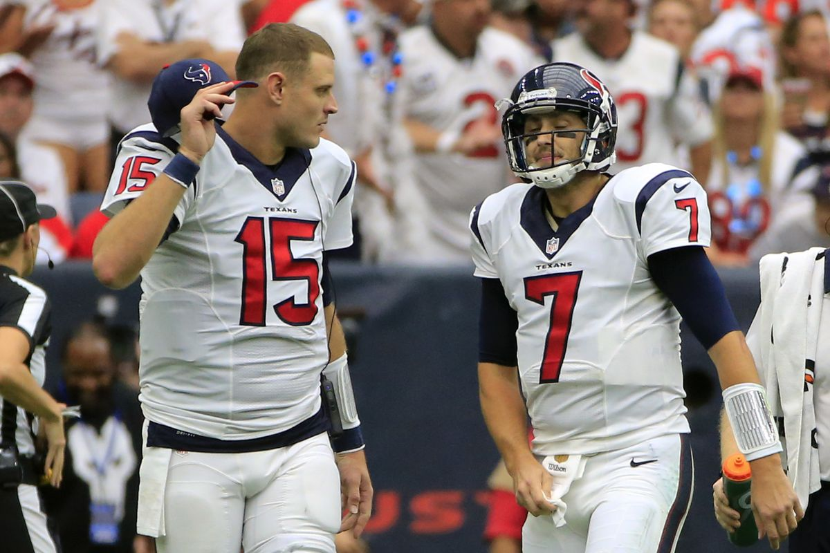 Brian Hoyer Takes Over For Ryan Mallett Vs Falcons Sbnation Com