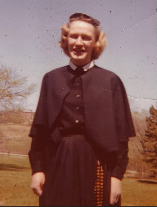 Joanne Whalen as a young postulant with her order, the Daughters of Charity. | Family photo
