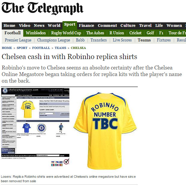 Revisiting the Robinho situation, ten years later - We Ain't Got No