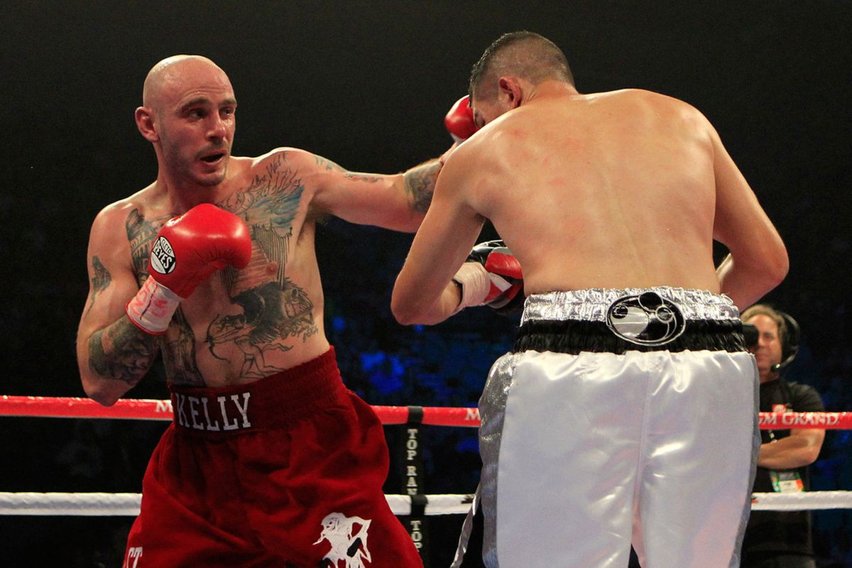 Kelly Pavlik's base guarantee to fight Lucian Bute was actually higher than what was offered to Mikkel Kessler. (Photo by Chris Trotman/Getty Images)