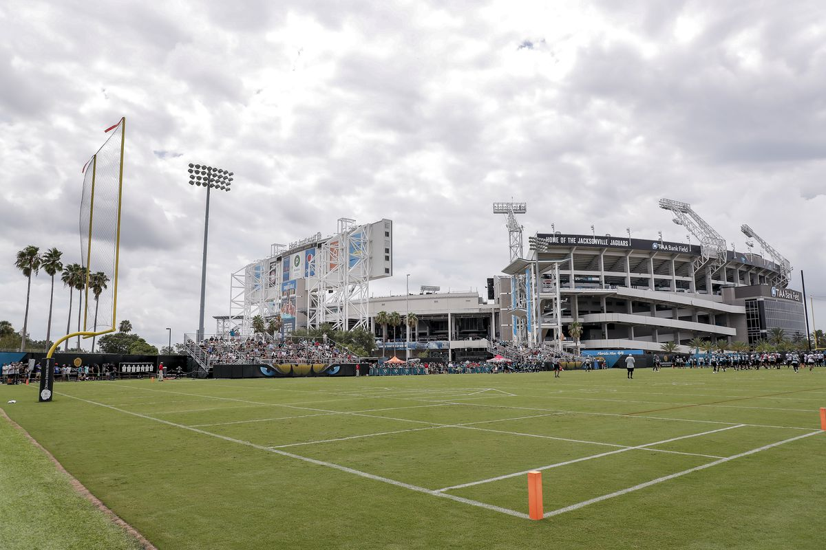 A general view TIAA Bank Field during the Jacksonville Jaguars Training Camp at Dream Finders Homes Practice Complex on July 26, 2018 in Jacksonville, Florida.