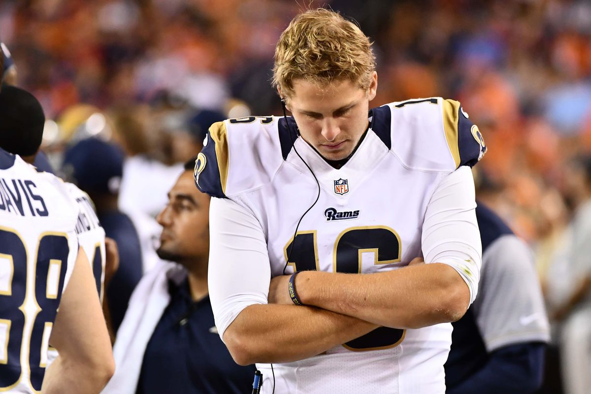 Los angeles rams qb jared goff hasn 39 t even been the best for Goff pictures