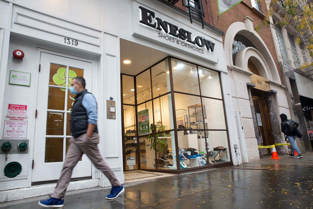Eneslow Shoes on the Upper East Side, Oct. 28, 2020.