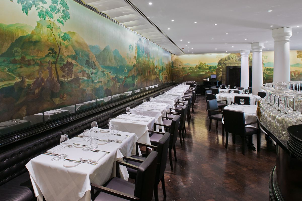 The Rex Whistler Restaurant at Tate Britain features a mural called 'The Expedition in Pursuit of Rare Meats', an artwork that depicts the enslavement of a Black child and other racist images
