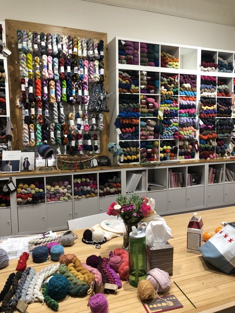 Hundreds of natural fiber yarn varieties are available at Knit 1 boutique. | Ji Suk Yi for the Sun-Times