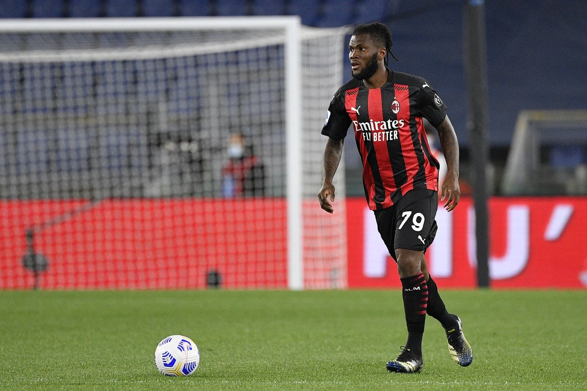 Frank Kessie of AC Milan in action during the 2020-2021...
