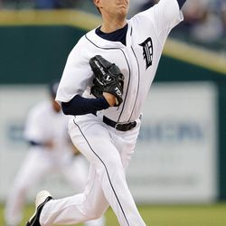 Detroit Tigers pitcher Adam Wilk throws against the Seattle Mariners in the first inning of a baseball game, Wednesday, April 25, 2012, in Detroit.