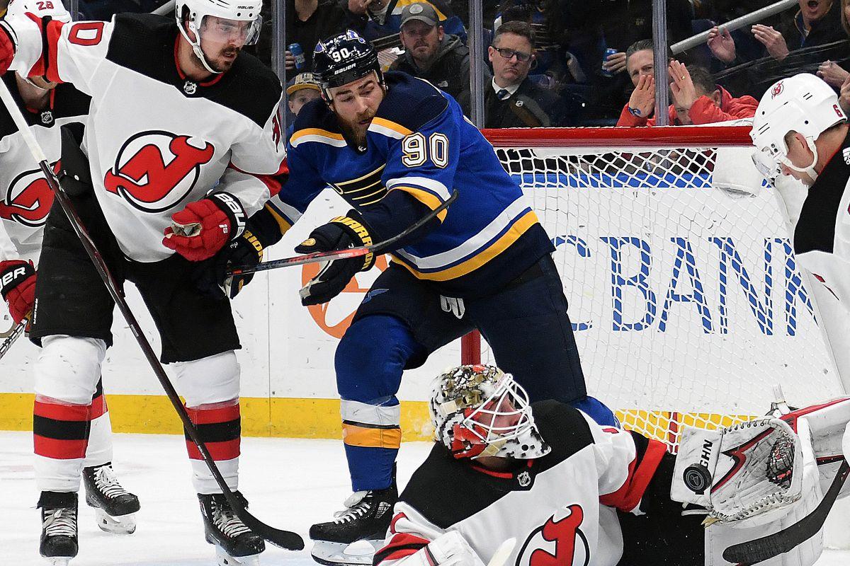 NHL: FEB 12 Devils at Blues