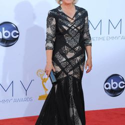 Actress Glenn Close arrives at the 64th Primetime Emmy Awards at the Nokia Theatre on Sunday, Sept. 23, 2012, in Los Angeles.