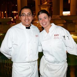 Edgar Aguilra and chef Nicole Grimes from Rao's appear at Vegas Uncork'd by Bon Appetit's Grand Tasting event at Caesars Palace. Photo: Ethan Miller/Getty Images