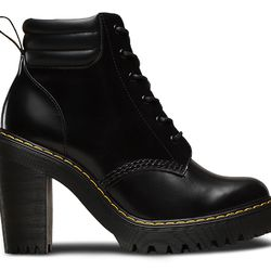 We're digging this high-heeled updated to the classic Doc Martens combat boot, also available in deep red.