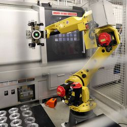 Robots perform some of the work at Paramount Machine in Salt Lake City on Friday, June 16, 2017. Talent Ready Utah recently awarded 12 Utah partnerships with $2.12 million in grants to better meet Utah's skilled workforce needs.