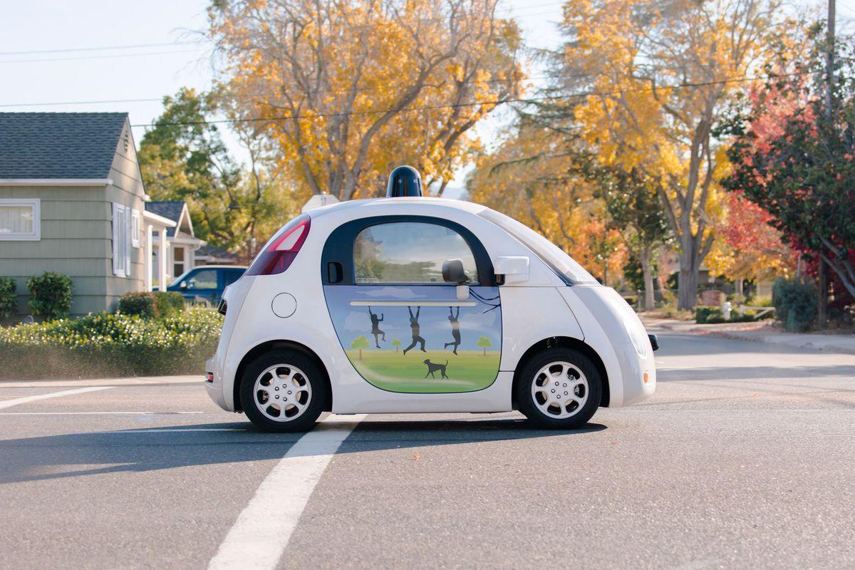 Google's self-driving car prototype looks like a gumdrop with wheels.