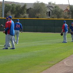 Luis Valbuena (24) and other infielders