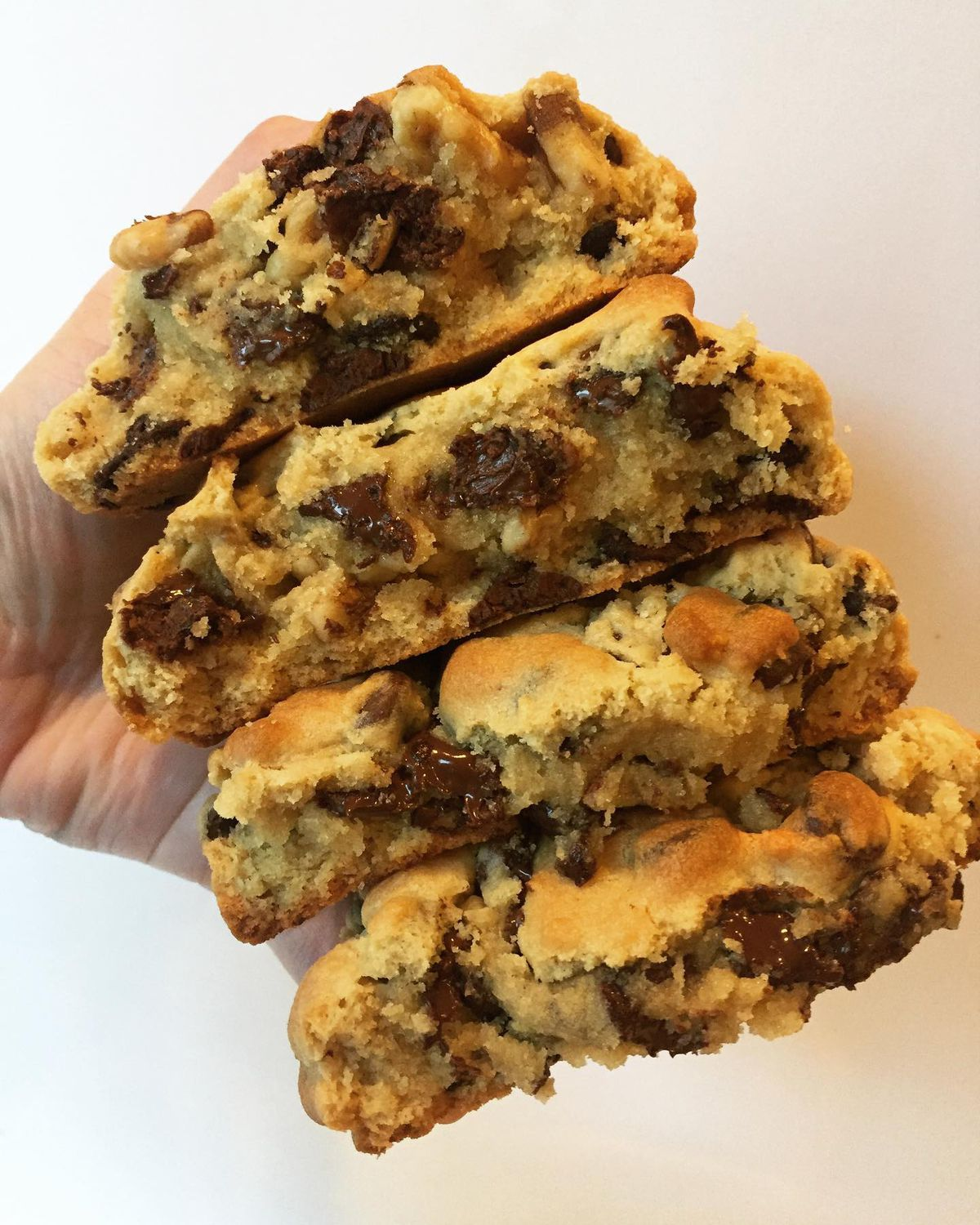 A stack of four cookies