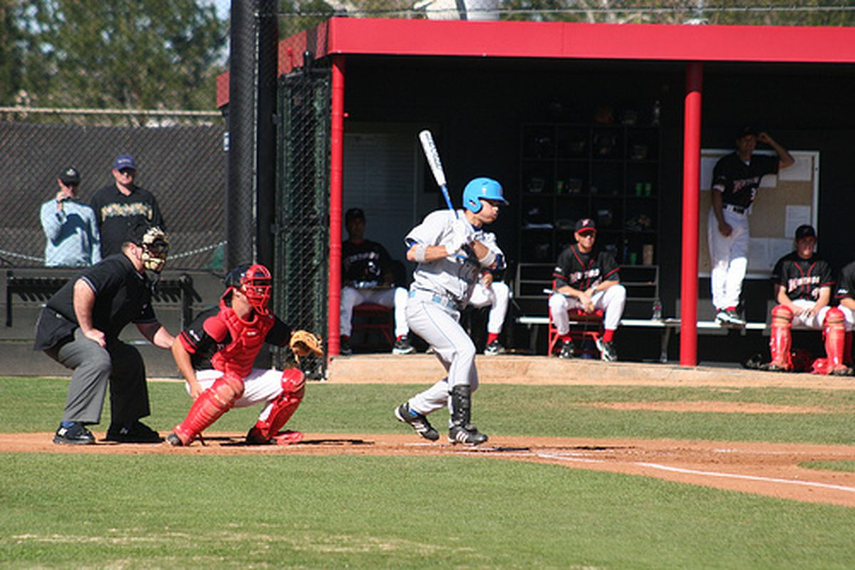 """<em>Justin Uribe and his crew are looking for a sweep in Seattle. Photo Credit: <a href=""""http://www.flickr.com/photos/uclabaseball/2319668259/"""" target=""""new"""">UCLA Baseball (flickr)</a></em>"""
