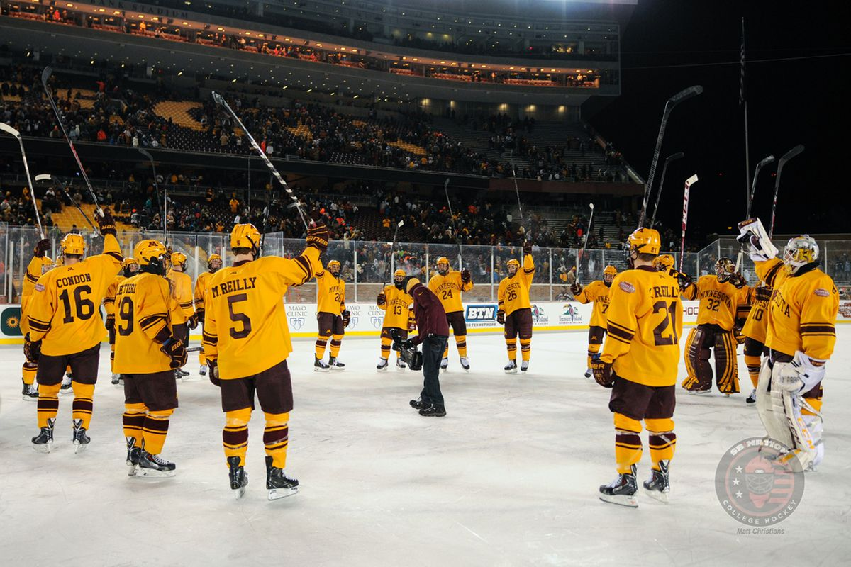 Minnesota defeated Ohio State 1-0 in last year's Hockey City Classic. The outdoor event returns to Chicago after a one-year pit stop in Minneapolis.