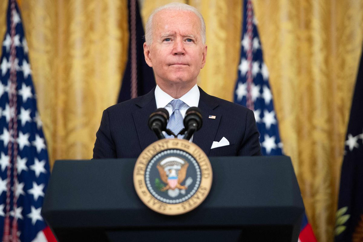 In this file photo US President Joe Biden speaks about Covid vaccinations in the East Room of the White House in Washington, DC, July 29, 2021.