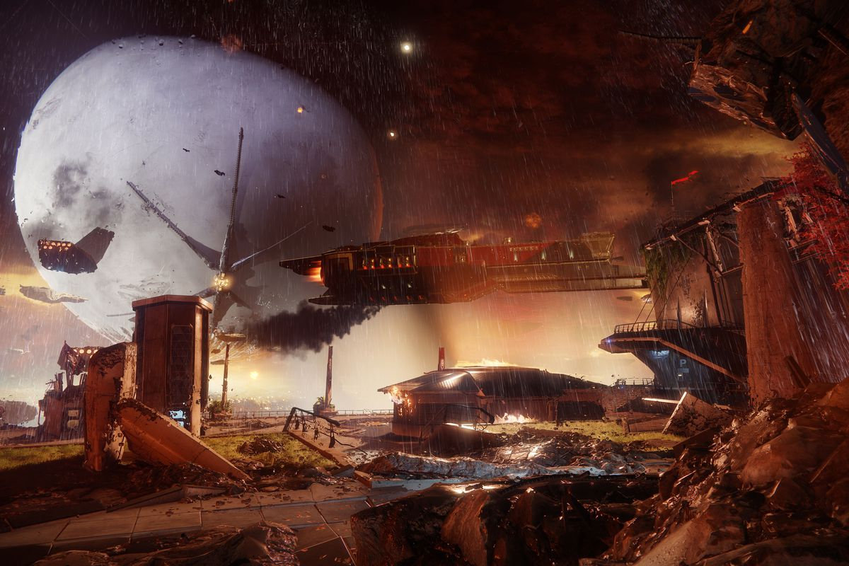 Destiny 2 - destroyed Tower, Earth