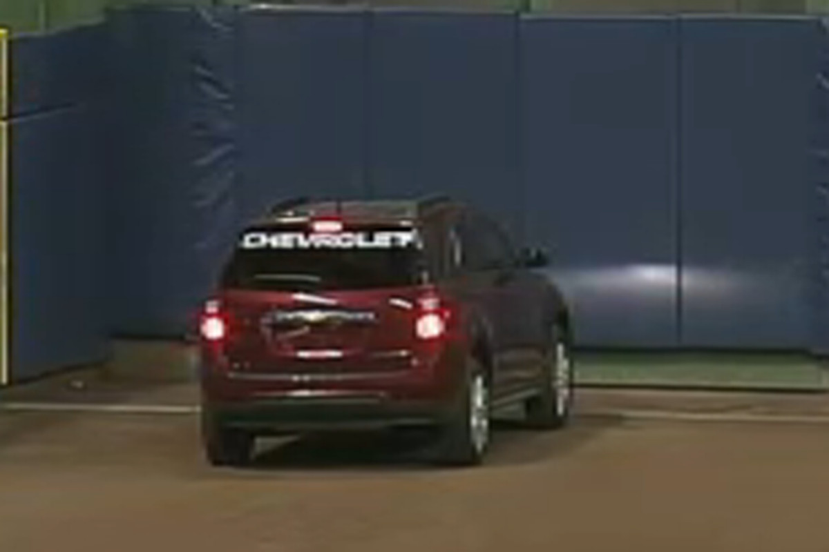 There's a car on the field