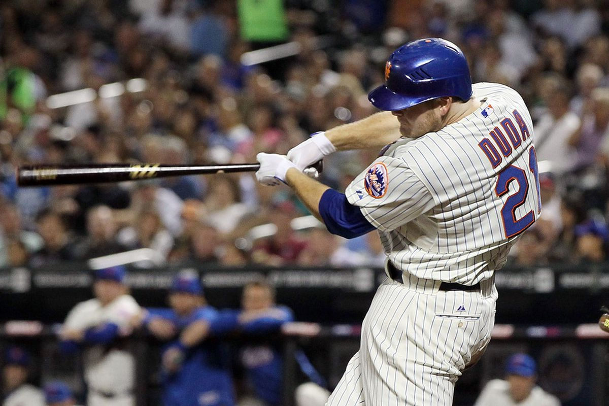 The Duda 'bides. (Photo by Jim McIsaac/Getty Images)