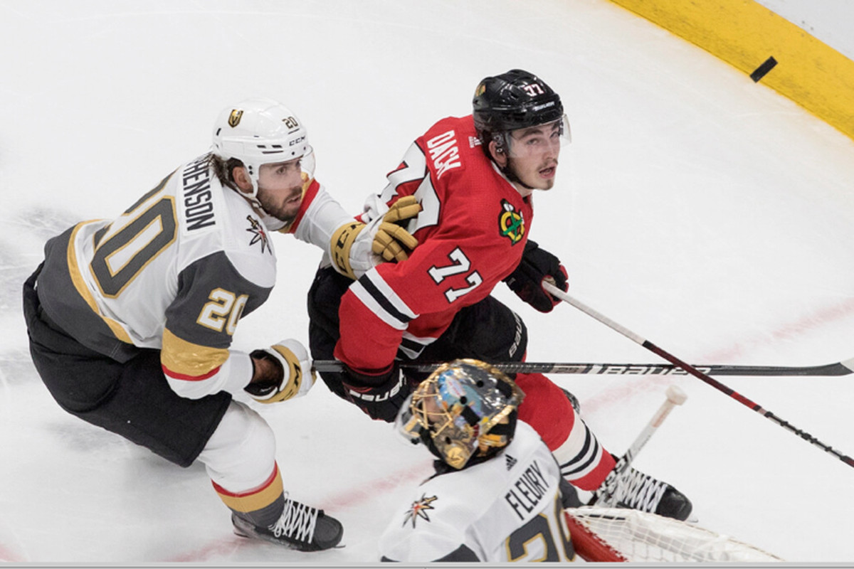 Kirby Dach will return to the Hawks if training camp starts before the World Junior Championships.