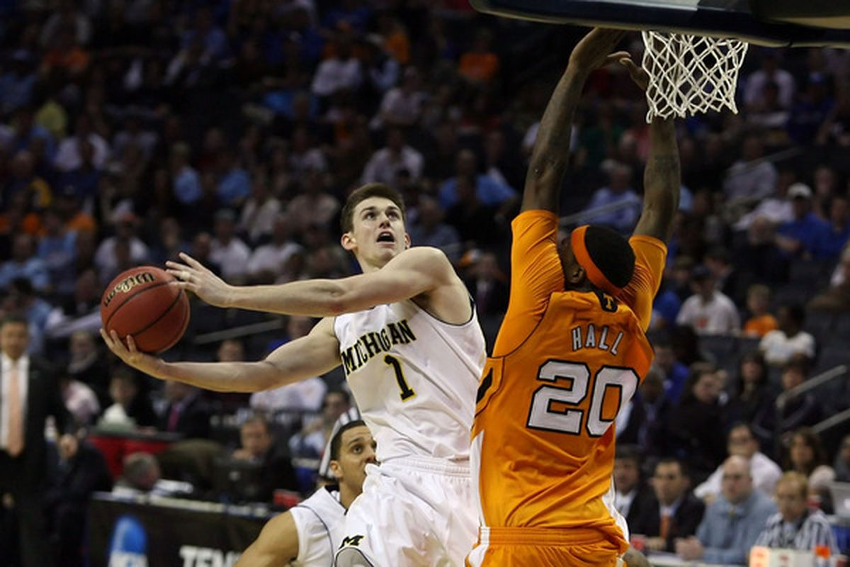Stu Douglass keyed a stunning knockout of the Tennessee Volunteers with a 5-assist, 11-point effort in Michigan's first NCAA Tournament game.  He'll need to keep up the good work if Michigan is going to make noise in the Big Ten and make another.