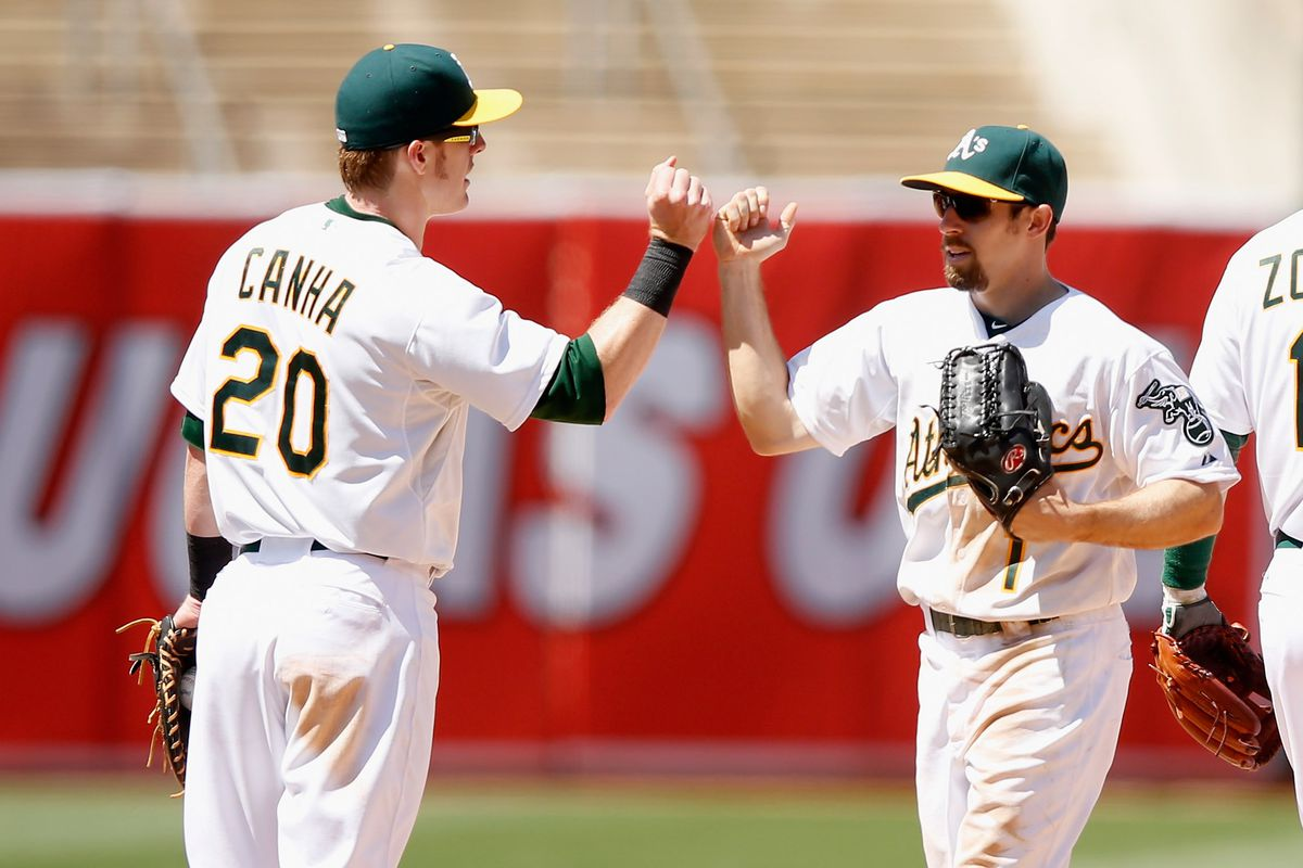 Mark Canha was No. 13 on the list, and Billy Burns was No. 17.