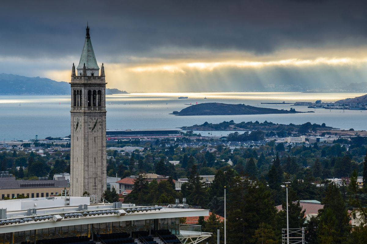San Francisco bay as seen from a tower on UC Berkeley campus.