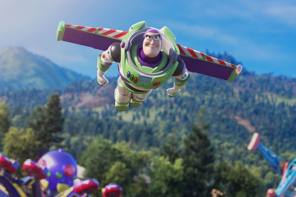 Buzz Lightyear on his way to infinity (and beyond).